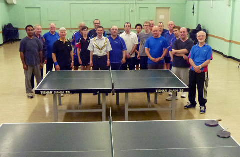 Photograph of Table Tennis Club standing together