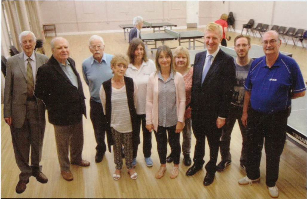 mp oliver dowden at the Maxwell Park community centre